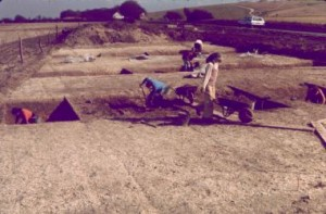 General view of the Mile Ditches excavation, 5 March 1978